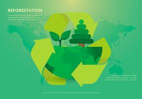 Leven van de natuur. Herbebossing. vector