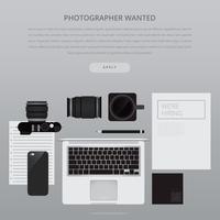 Job Search en Career Advertising Template vector
