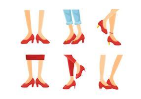ruby slippers collectie vector illustratie