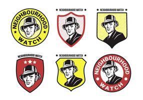 buurt horloge vector logo collectie