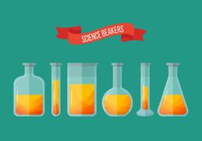 Erlenmeyer glas collectie vector illustratie