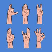 Verschillende vormen van genezing Hand Vector collectie