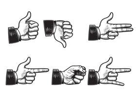 Gravure Hand Vectoren