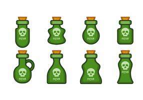 Fles met stop pictogram vector