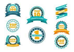 TOP-badge Vector Set