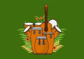 Conga akoestische drum vector