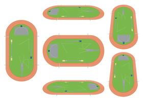 Track en Field Vector Set