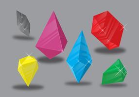 Kleuren kwartskristal vector