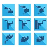 Dakgoot pictogram vector