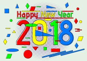 plat gelukkig nieuwjaar 2018