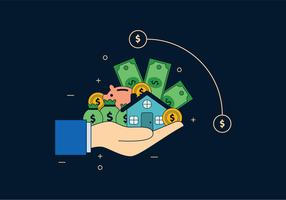 De hand van de belegger vector