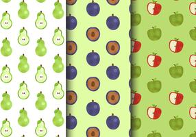 Gratis naadloze fruitpatronen vector