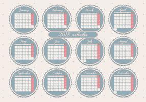 Afdrukbare maandelijkse kalender Vol 2 Vector