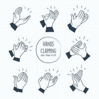 Handen klappen vectoren
