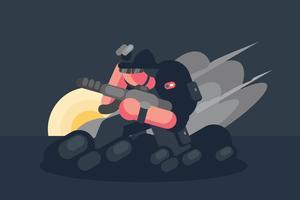 Navy zeehond illustratie vector