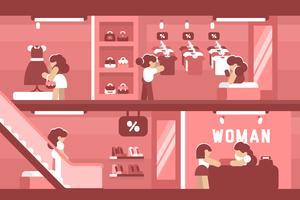 Winkelcentrum illustratie vector
