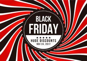 Promotie Black Friday-illustratie vector
