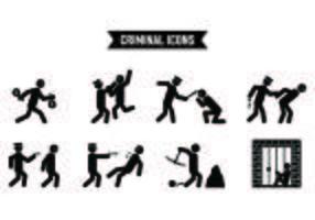 Set van diefstal pictogrammen
