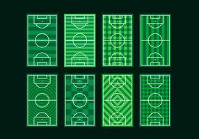 Voetbalgrond Gratis Vector