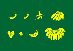 Banaan Effen pictogram Gratis Vector