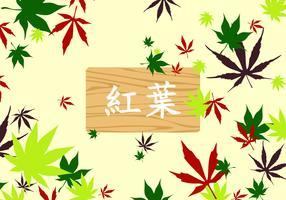 Japanse esdoorn patroon gratis vector