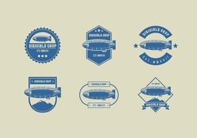 Dirigible Vintage Logo Gratis Vector