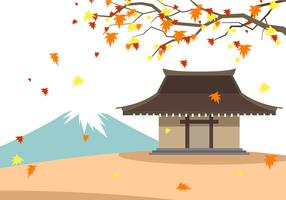 Japanse herfst gratis vector