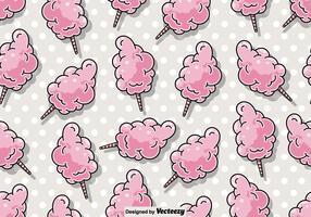 Vector naadloze Candy Floss patroon