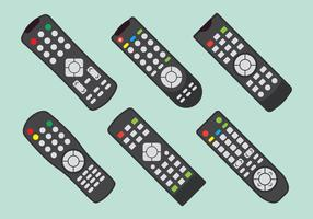 tv remot controleset vector