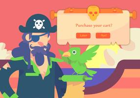 kapitein piraat en vogel
