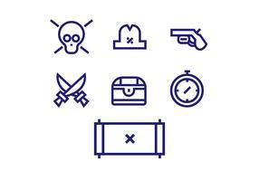 Piraten pictogram vector