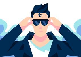 Smeermiddel bril Vector dragen