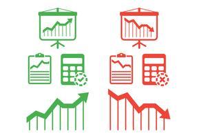 Inkomsten instellen vector pictogram