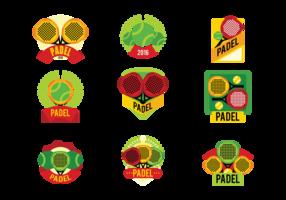 Padel tennis labels vector