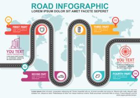 routekaart infographic vector