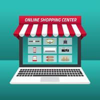 Online winkelcentrum Gratis Vector