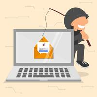 Internet Phishing Illustratie vector