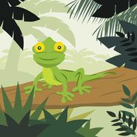 Cartoon kameleon Vector