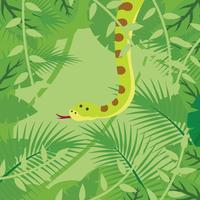 Anaconda op bos achtergrond vector