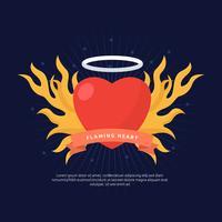 Gratis Flaming Heart Concept Vector