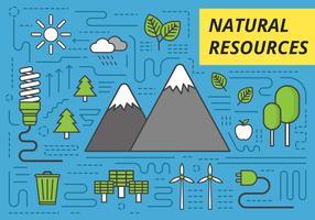 Gratis natuurlijke hulpbronnen vectorillustratie