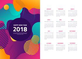 Gratis Abstract 2018 Kalender Vector