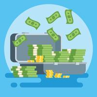 Monster geld vectorillustratie vector