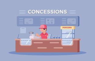 Movie Theatre Concession Stand vector