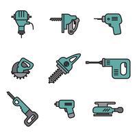 Set van hulpmiddelen van de bouw