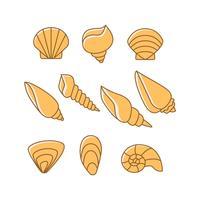 shell pictogram vector