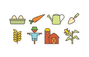 Landbouw pictogramserie vector