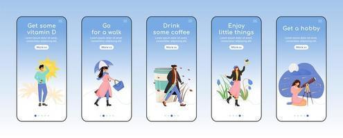 mobiele app voor seizoensgebonden depressiepreventie vector