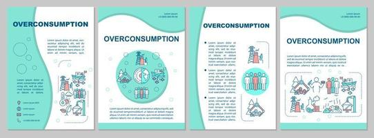overconsumptie brochure sjabloon. vector