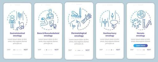 oncologie onboarding mobiele app-pagina